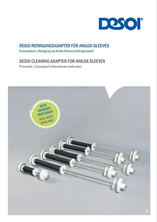 DESOI Cleaning Adapter for Anilox Sleeves